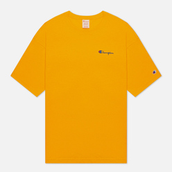 Мужская футболка Champion Reverse Weave Small Script Logo Muscle Fit Orange