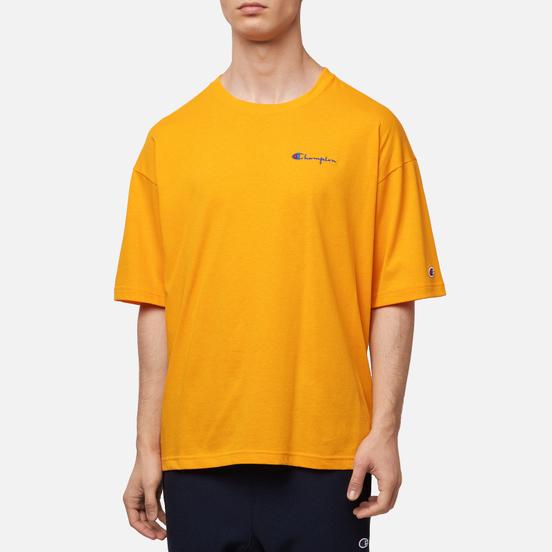 Мужская футболка Champion Reverse Weave Small Script Logo Muscle Fit Orange