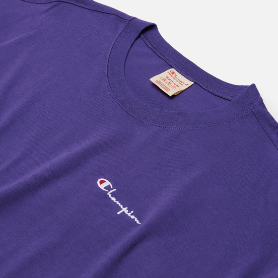 Мужская футболка Champion Reverse Weave Small Script Logo Muscle Fit Purple