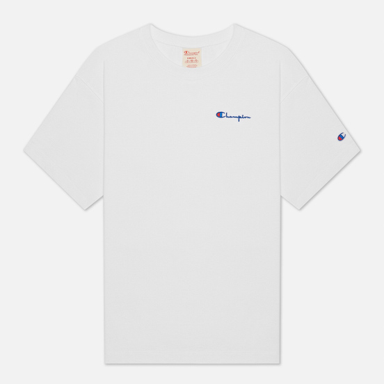 Мужская футболка Champion Reverse Weave Small Script Logo Muscle Fit White