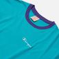 Мужская футболка Champion Reverse Weave Small Script & Logo Sleeve Bicolor Bright Green фото - 1
