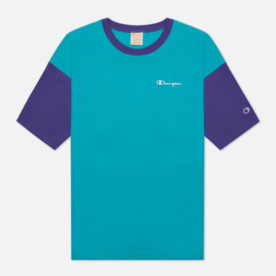 Мужская футболка Champion Reverse Weave Small Script & Logo Sleeve Bicolor Bright Green