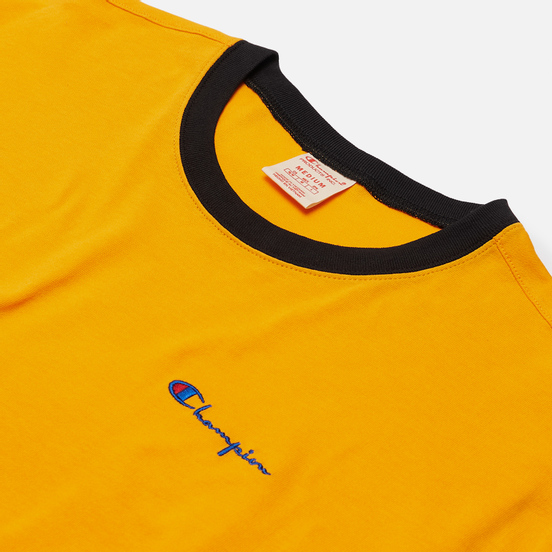 Мужская футболка Champion Reverse Weave Small Script & Logo Sleeve Bicolor Orange