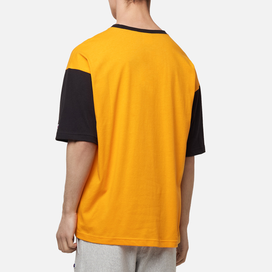 Мужская футболка Champion Reverse Weave Small Script & Logo Sleeve Bicolor Orange