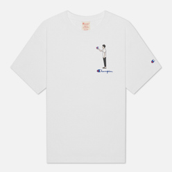 Мужская футболка Champion Reverse Weave Standing Character Off White