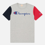 Мужская футболка Champion Reverse Weave Triple Color Grey/Navy/Red фото- 0