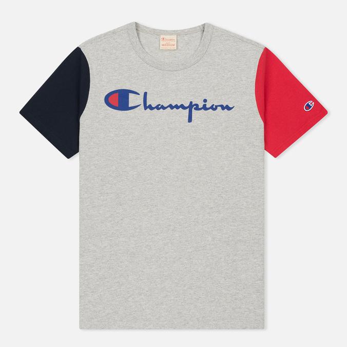 Мужская футболка Champion Reverse Weave Triple Color Grey/Navy/Red