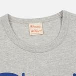 Мужская футболка Champion Reverse Weave Triple Color Grey/Navy/Red фото- 1