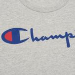 Мужская футболка Champion Reverse Weave Triple Color Grey/Navy/Red фото- 2