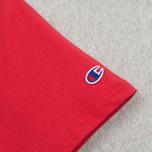 Мужская футболка Champion Reverse Weave Triple Color Grey/Navy/Red фото- 3