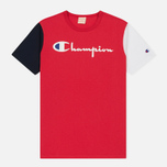Мужская футболка Champion Reverse Weave Triple Color Red/Navy/White фото- 0