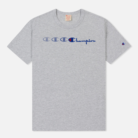 Мужская футболка Champion Reverse Weave Vintage C Logo Print Crew Neck Light Grey