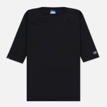 Мужская футболка Champion Reverse Weave x Beams Horizontal Zip Black фото- 0