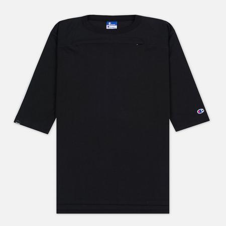 Champion Reverse Weave x Beams Horizontal Zip Men's t-shirt Black