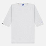 Мужская футболка Champion Reverse Weave x Beams Horizontal Zip Grey Marl фото- 0