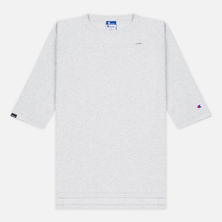 Мужская футболка Champion Reverse Weave x Beams Horizontal Zip Grey Marl