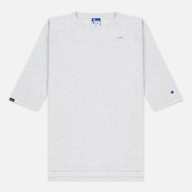 Мужская футболка Champion Reverse Weave x Beams Horizontal Zip Grey Marl