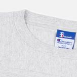 Мужская футболка Champion Reverse Weave x Beams Horizontal Zip Grey Marl фото- 1