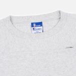 Мужская футболка Champion Reverse Weave x Beams Horizontal Zip Grey Marl фото- 2