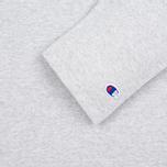 Мужская футболка Champion Reverse Weave x Beams Horizontal Zip Grey Marl фото- 3