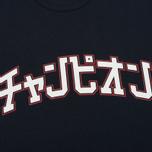 Мужская футболка Champion Reverse Weave x Beams Japanese Print Navy фото- 2