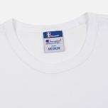 Мужская футболка Champion Reverse Weave x Beams Japanese Print White фото- 1