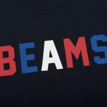 Мужская футболка Champion Reverse Weave x Beams Logo Navy фото- 2