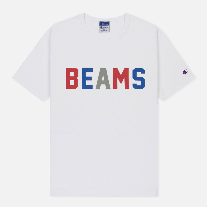 Мужская футболка Champion Reverse Weave x Beams Logo White