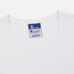 Мужская футболка Champion Reverse Weave x Beams Logo White фото- 1