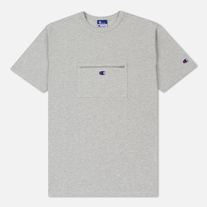 Мужская футболка Champion Reverse Weave x Beams Passport Pocket Heather Grey