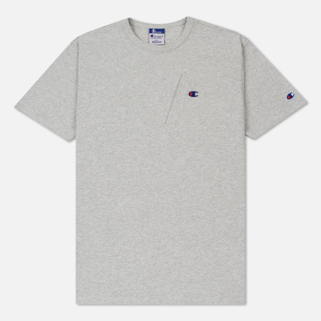 Мужская футболка Champion Reverse Weave x Beams Pocket Detail Heather Grey