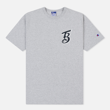 Мужская футболка Champion Reverse Weave x Beams Rear Logo Grey