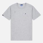 Мужская футболка Champion Reverse Weave x Beams Vertical Zip Grey Marl фото- 0