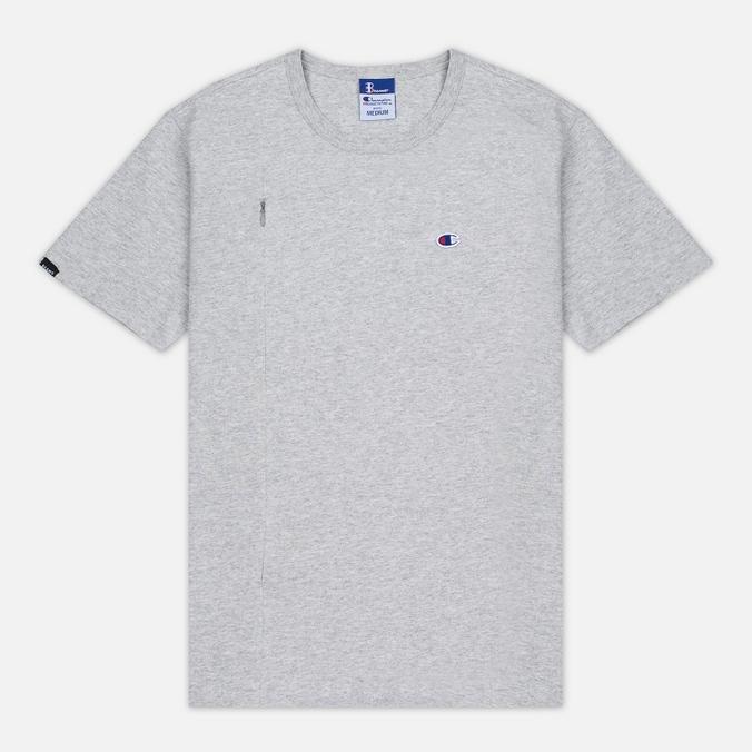 Мужская футболка Champion Reverse Weave x Beams Vertical Zip Grey Marl