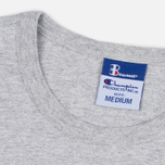 Мужская футболка Champion Reverse Weave x Beams Vertical Zip Grey Marl фото- 1
