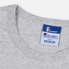 Мужская футболка Champion Reverse Weave x Beams Vertical Zip Grey Marl фото- 1