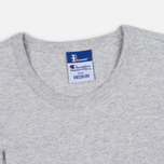 Мужская футболка Champion Reverse Weave x Beams Vertical Zip Grey Marl фото- 2