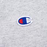 Мужская футболка Champion Reverse Weave x Beams Vertical Zip Grey Marl фото- 3