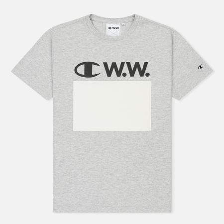 Мужская футболка Champion Reverse Weave x Wood Wood Alec Grey Melange