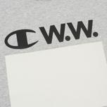 Мужская футболка Champion Reverse Weave x Wood Wood Alec Grey Melange фото- 2