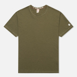 Champion x Todd Snyder Crewneck Men's T-shirt Olive Drab photo- 0