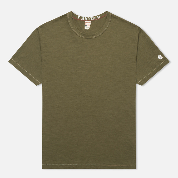 Champion x Todd Snyder Crewneck Men's T-shirt Olive Drab