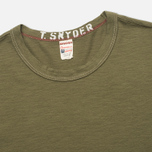 Champion x Todd Snyder Crewneck Men's T-shirt Olive Drab photo- 1