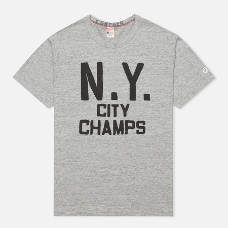 Champion x Todd Snyder NY City Champs Men's T-shirt Grey Heather