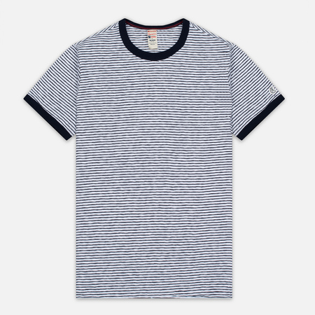 Мужская футболка Champion x Todd Snyder Striped White/Navy