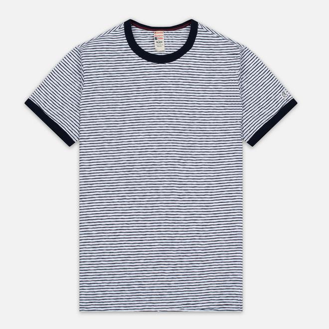 Мужская футболка Champion x Todd Snyder Striped White/Navy