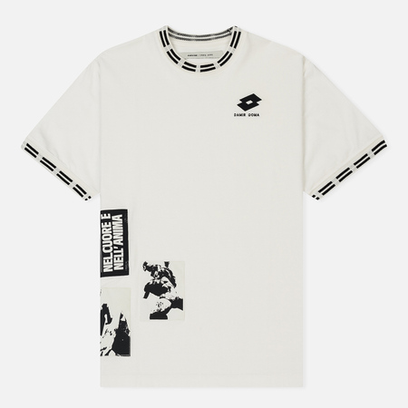 Мужская футболка Damir Doma x Lotto Tobsy L Chakl White