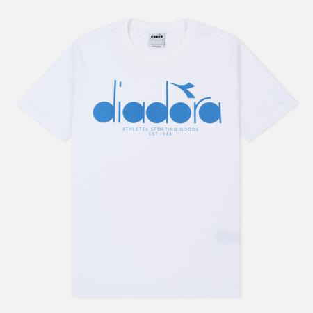 Мужская футболка Diadora SS BL Optical White/Mediterranean Blue
