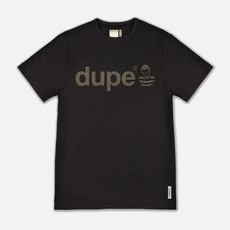 Мужская футболка Dupe Galag Ben Logo Print/Black Melange