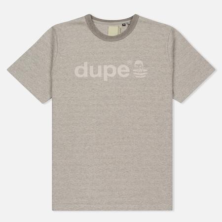 Мужская футболка Dupe Galag Ben Logo Print/Grey Melange B